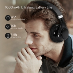 ARCHEER AH45 Bluetooth Headphones with Speaker,  45 Hours Playtime ,Wireless & Foldable for PC & Cell Phone