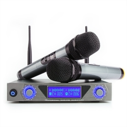 ARCHEER  Dual Channel UHF Wireless Microphone with LCD Display for   Karaoke and More.