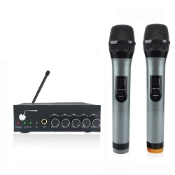 ARCHEER VHF Bluetooth Wireless Microphone ,Dual Channel for Smartphones and Other Bluetooth-enable Devices