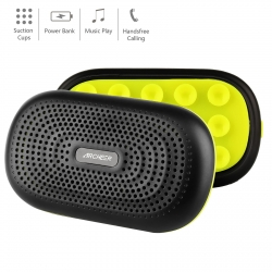 Bluetooth Speakers, Archeer Pocket Size Wireless Speaker, 12 Hour Playtime, 3000mAh Portable Charger Power Bank External Battery with Built-in Micro USB Cable & Suction Cups, A227 -Black